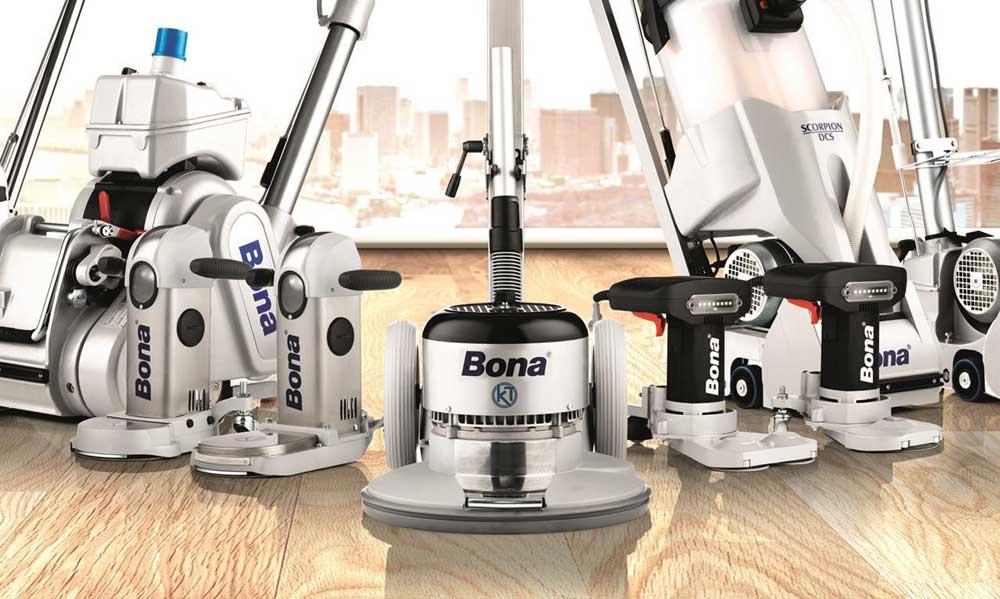 Bonas maskiner för golvslipning