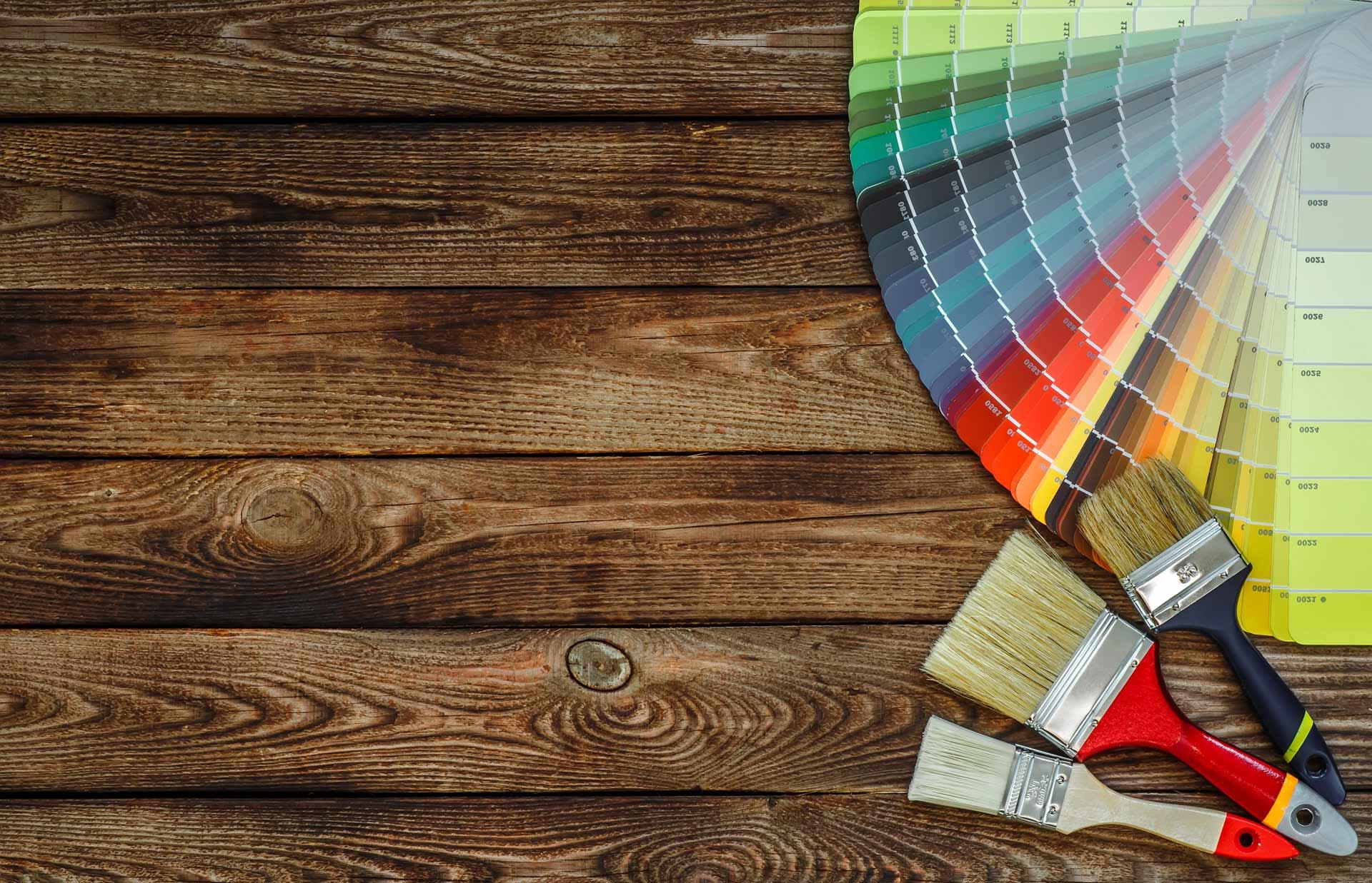Måleri palett och golv