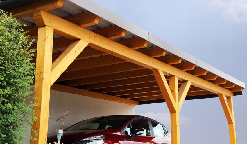 carport med betonggolv